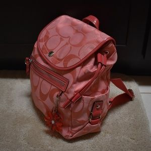 Coach Bags - Pink Coach Backpack NWOT